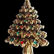 Rare De Nicola Christmas Tree Brooch Vintage 1965 DeNicola