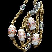 Venetian Murano Bead Necklace Wedding Cake Italian Beads