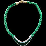 Rare Vintage Necklace Fused Lucite Disc 1970s Find
