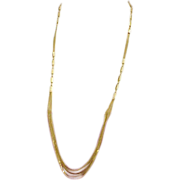 Extra Long 14k Yellow Gold Necklace Multi Strand 20.6 Grams