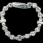 Gorgeous Givenchy Rhinestone Bracelet Designer Signed