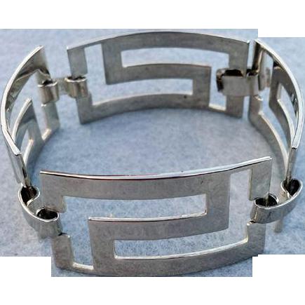 Sterling Silver Bracelet Mid Century Links 25.7 Grams
