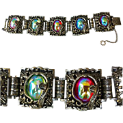 1960s Fancy Vintage Bracelet Chunky Charm Designer Judy Lee