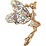 Sparkling Rhinestone Fairy Brooch Fancy Fun