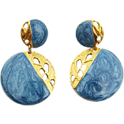 Sassy Edgar Berebi  Vintage Pierced Earrings Enamel and Pierced Work