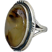 Agate Ring Medieval Style Domed Stone Size 5-3/4 Game of Thrones