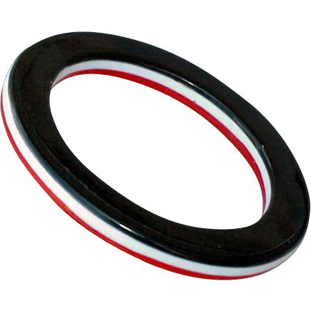 Vintage 1970s Lucite Bangle Bracelet Laminated Black Red and White Mod Fashion