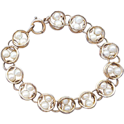 1960s Vintage Bracelet 26 Caged Pearls 12k Gold Filled Winard 17.5 Grams