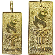 1969 Olympics Atlanta Georgia Sterling Pendant 100th Summer Games Michael Anthony