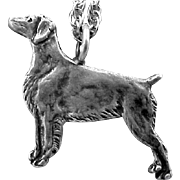 Sterling Silver Dog Necklace or Charm Setter or Pointer 6.5 Grams