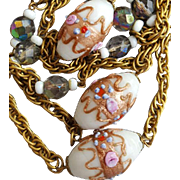 Vintage Venetian Necklace Wedding Cake Beads