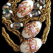Vintage Venetian Necklace Wedding Cake Beads