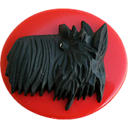 Vintage Brooch Scottie Dog Scottish Terrier Scotty