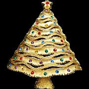 Fabulous Vintage Christmas Tree Brooch J.J. Jonette