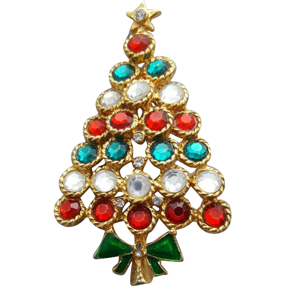 Sweet Sparkling Christmas Tree with Bow Large Size