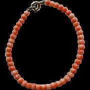 Vintage Angel Skin Coral Bead Bracelet Delicate Delight