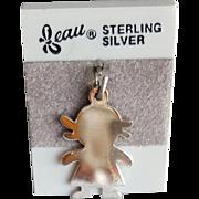 Sterling Silver Bracelet Charm Beau Vintage 1980