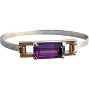 Purple Rhinestone Bangle Bracelet Skyline by Avon Modernist