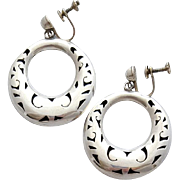 Sterling Silver Taxco Shadow Box Earrings with Bonus 9 grams