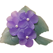 Lovely Violets Brooch for Spring Feminine Sweetness