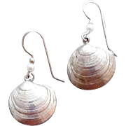Sterling Silver Egg Cockle Sea Shell Earrings or Charms 6.3 grams