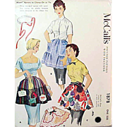 1950s McCall's 1878 Vintage Sewing Pattern Apron One Yard Variety