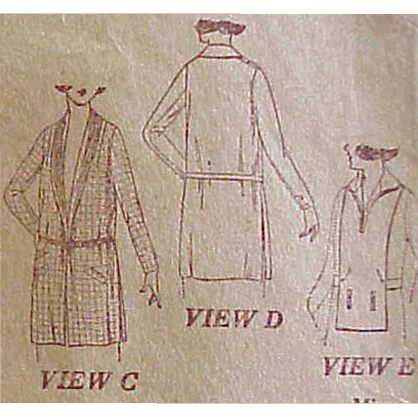 Rare WWI Vintage Sewing Pattern Women's Coats Bust 34 Downton Abbey Era