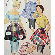 1950s McCall's 1878 Vintage Sewing Pattern Apron One Yard One Size