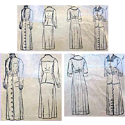 Original 1916 Edwardian Suit Dress Sewing Pattern Bust 34 Rare