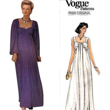 Sale Vintage Sewing Pattern Givenchy Vogue 1530 Evening Dress ...