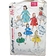 Original 22 inch Doll Clothes Sewing Pattern 1950s Simplicity 1779 Sweet Sue Binnie - Red Tag Sale Item