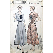 1940s Vintage Sewing Pattern Classic Dress Size Extra Small Bust 32