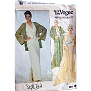 Vintage Edith Head Vogue  Sewing Pattern Evening Jacket Bust 34 Palazzo Pants