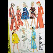 Barbie Doll 11-1/2 Inch Bride Wedding Trousseau 1960s Vintage Sewing Pattern