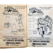 2 Vintage Western Clothing Patterns 1900 Styles Women's Clothing