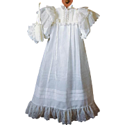 Christening Gown with Bonnet Vintage Sewing Pattern Doll, NB - 3 Months