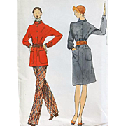 Vintage Vogue Sewing Pattern Dress Tunic Pants Size Large #8372
