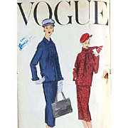 Vintage Vogue Suit Sewing Pattern Early 1960s Bust 36 Mid Century Chic