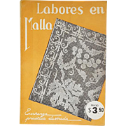 Vintage Spanish Text Instruction Manual for Needle Lace Labores en Malla 1930s Mexico