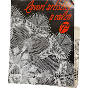 Knitted Lace Italian Language Instruction Book 1956 Patterns