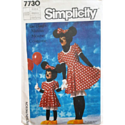 Halloween Adult Minnie Mouse Costume Sewing Pattern Size Medium Women's
