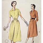 Vintage 1950s Classic Dress Sewing Pattern Bust 32 Size Small