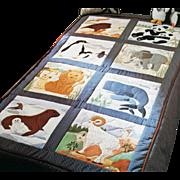 Muslin Quilt Squares for Peaceable Kingdom Quilt Mint Fabric