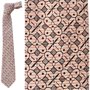 All Silk Vintage Narrow Necktie Black Pink Fabulous Print