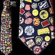 Tall Man Silk Necktie Railroad Routes Logo Neck Tie Train Union Pacific Dozens more