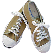 Vintage Sports Jack Purcell Converse Tennis Shoes Size 4 Smile