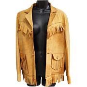 1950s Fringed Suede Women's Leather Jacket Western Style Size Small - Medium