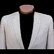 Vintage 1960s Men's Blazer Sports Coat Jacket Size 44 R Tweed