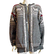 Unisex Dale of Norway Ski Sweater Extra Large Gray White Red