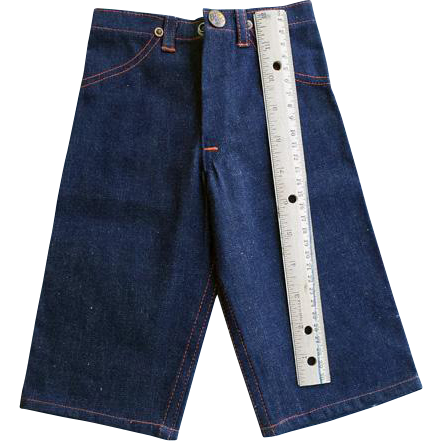 Vintage 1940s Salesman's Sample Men's Big Mac Denim Pants 13 Inch Mint Rare